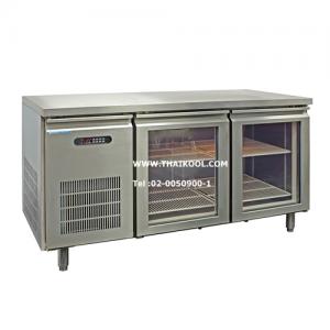 ตู้นอนแช่เย็นสแตนเลสเกรด 304 บานกระจก รุ่น YPC-120GR