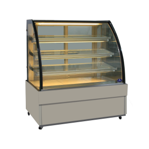 ตู้โชว์เค้กกระจกโค้งแบบบานกระจกเลื่อน รุ่น SKK-1207Z